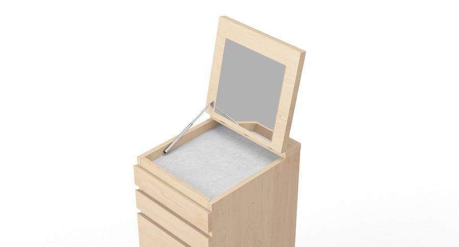 Zestaw szuflad Ikea Malm royalty-free 3d model - Preview no. 56