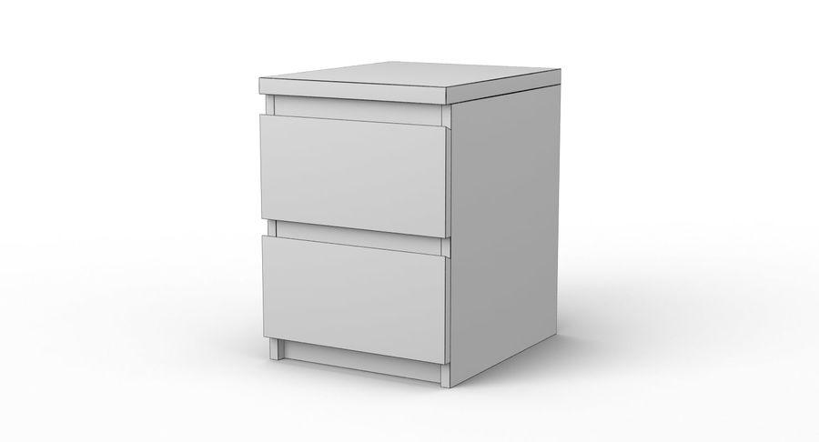 Zestaw szuflad Ikea Malm royalty-free 3d model - Preview no. 86