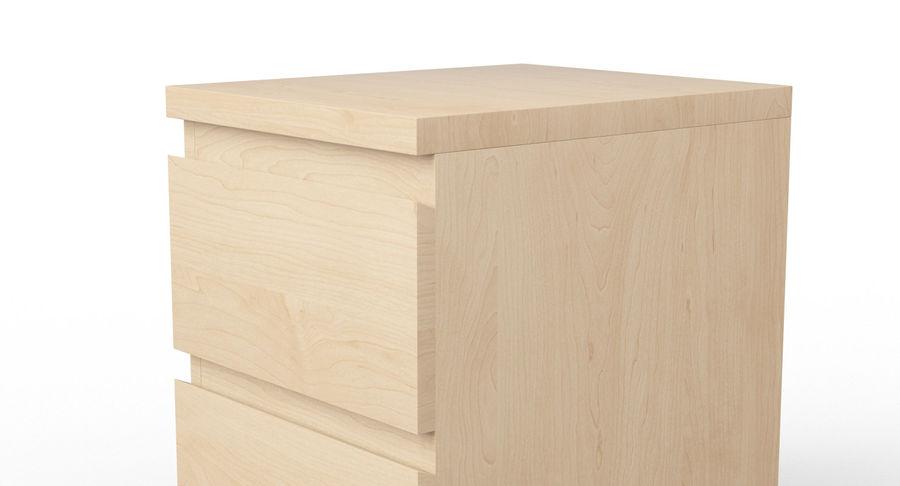 Zestaw szuflad Ikea Malm royalty-free 3d model - Preview no. 84