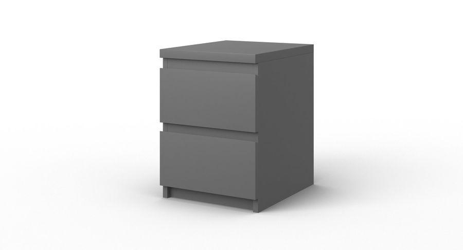 Zestaw szuflad Ikea Malm royalty-free 3d model - Preview no. 78