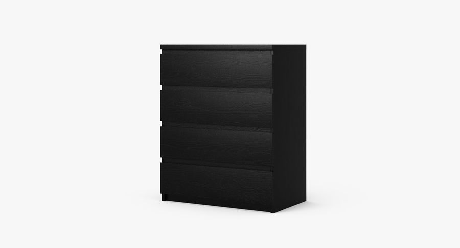 Zestaw szuflad Ikea Malm royalty-free 3d model - Preview no. 22