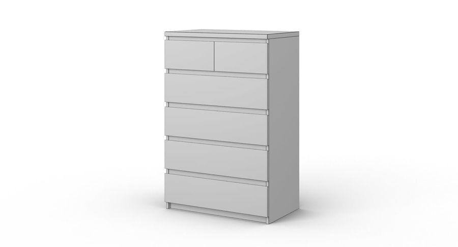 Zestaw szuflad Ikea Malm royalty-free 3d model - Preview no. 44