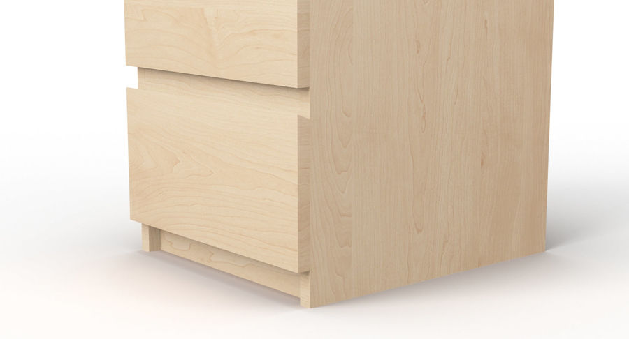 Zestaw szuflad Ikea Malm royalty-free 3d model - Preview no. 85