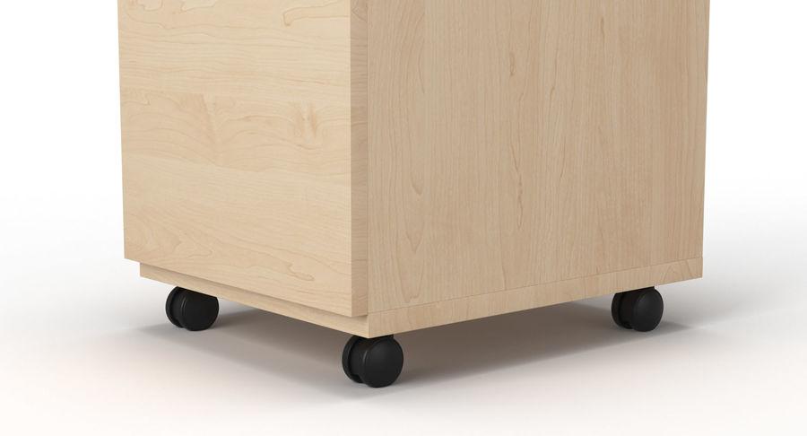 Zestaw szuflad Ikea Malm royalty-free 3d model - Preview no. 96