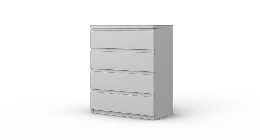Zestaw szuflad Ikea Malm royalty-free 3d model - Preview no. 31