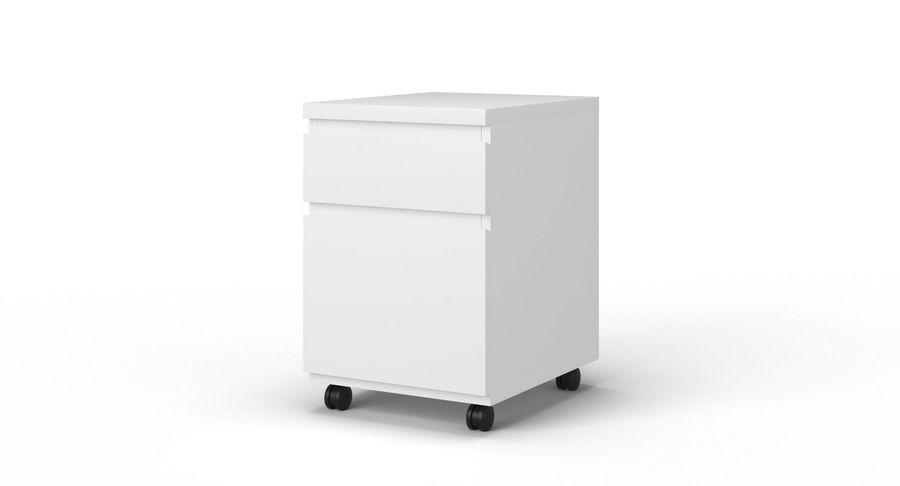 Zestaw szuflad Ikea Malm royalty-free 3d model - Preview no. 91