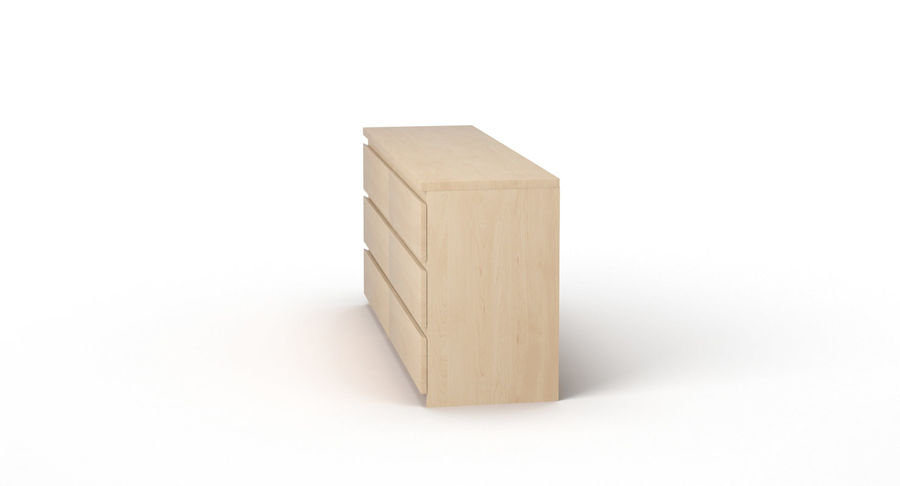 Zestaw szuflad Ikea Malm royalty-free 3d model - Preview no. 69