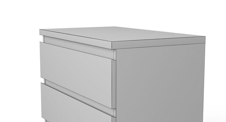 Zestaw szuflad Ikea Malm royalty-free 3d model - Preview no. 19