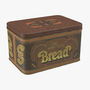Vintage Metal Kitchen Tin Bread 3d model