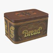 빈티지 금속 주방 주석 빵 3d model