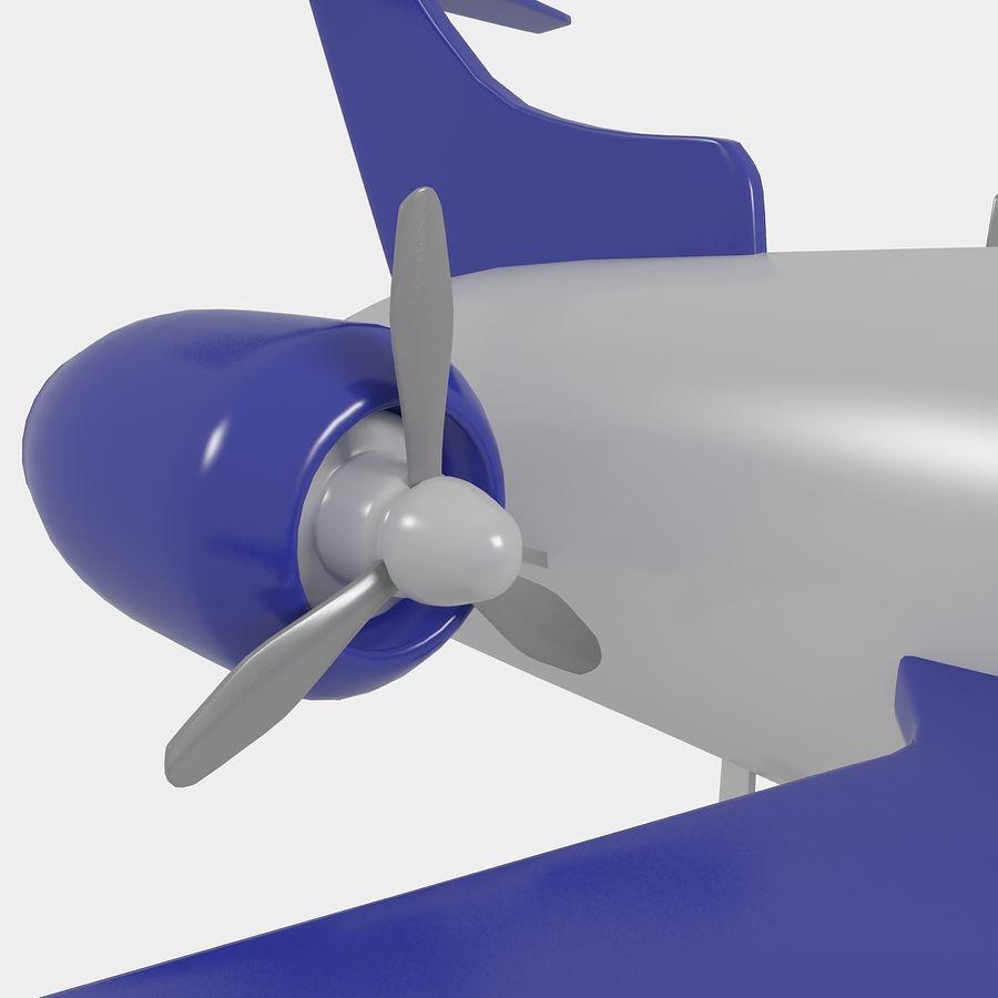 Avião de brinquedo royalty-free 3d model - Preview no. 8