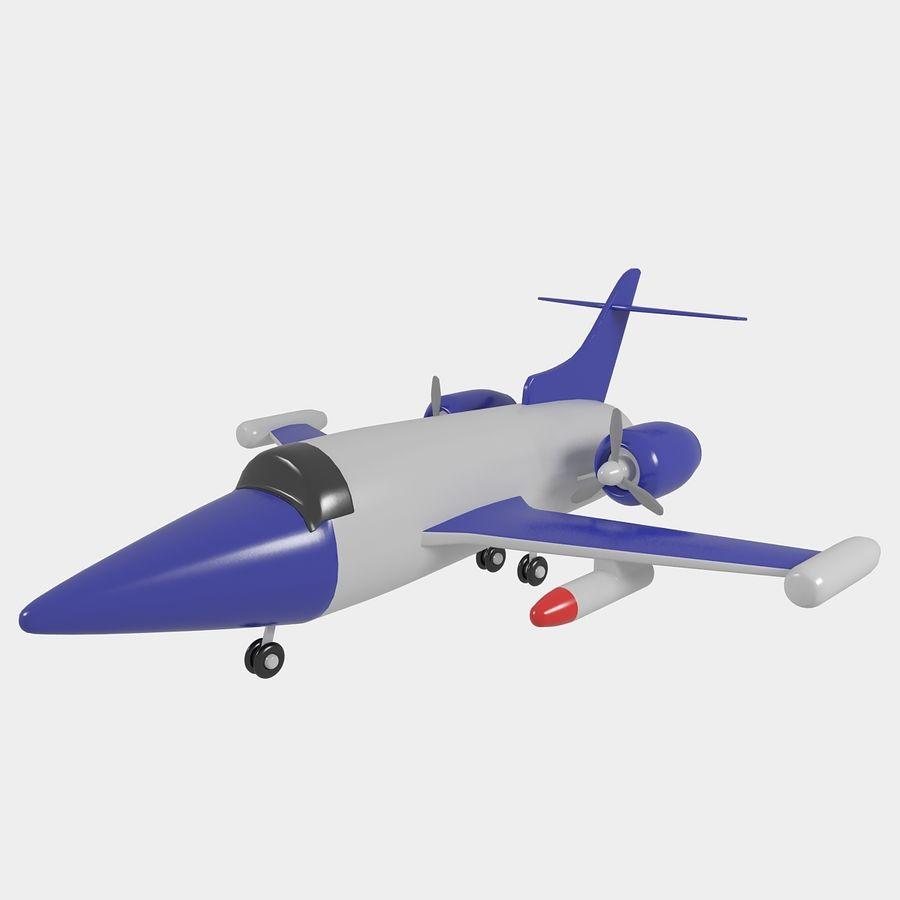 Avião de brinquedo royalty-free 3d model - Preview no. 4