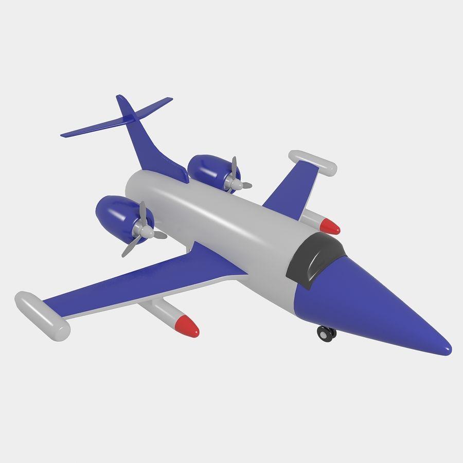Avião de brinquedo royalty-free 3d model - Preview no. 2