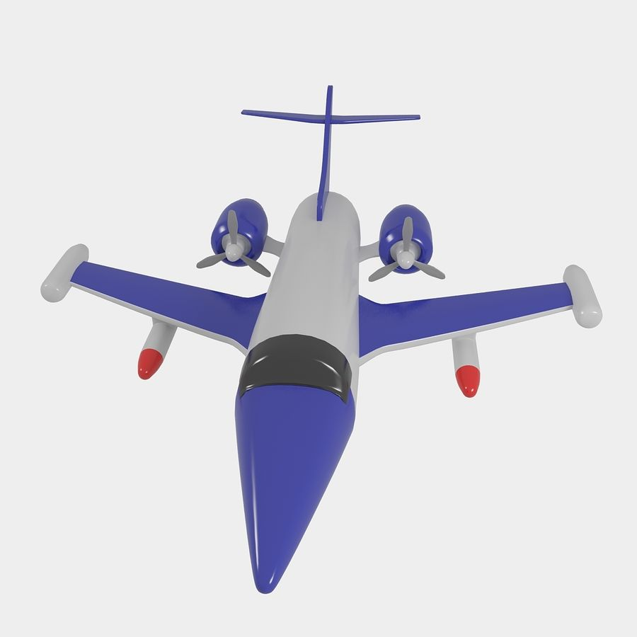 Avião de brinquedo royalty-free 3d model - Preview no. 3