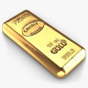 Guldstång 2 liten 3d model