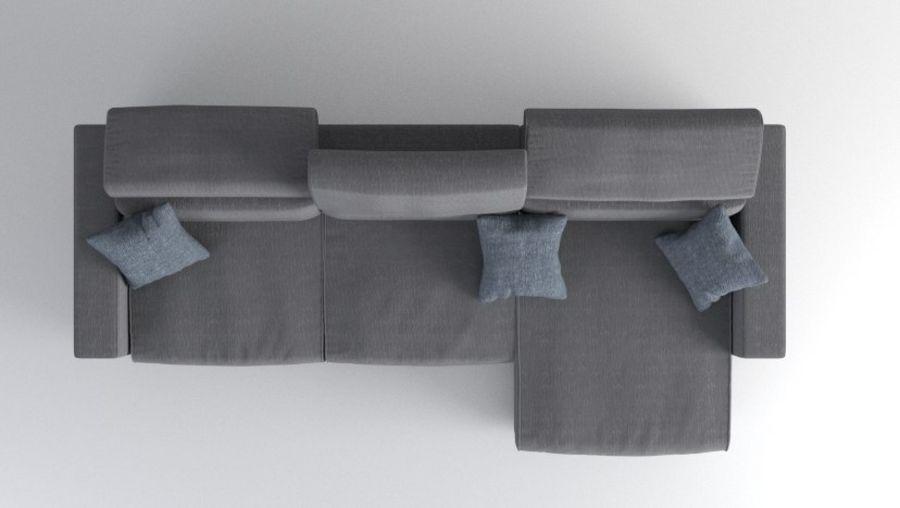 Sofa royalty-free 3d model - Preview no. 8