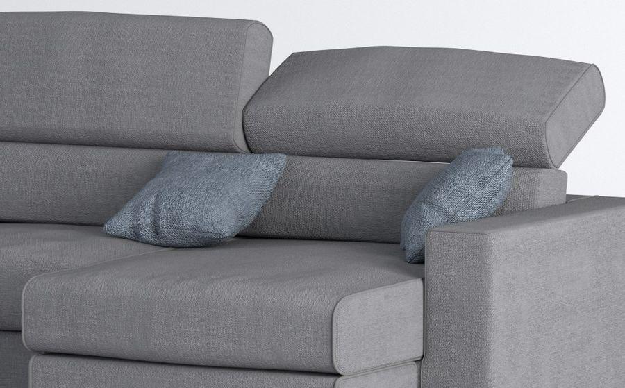 Sofa royalty-free 3d model - Preview no. 4