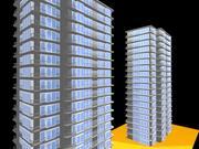 edificio alto modelo 3d
