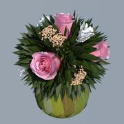 장미 꽃다발 3d model