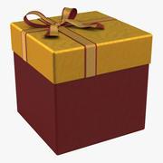 ギフトボックス3赤2 3d model
