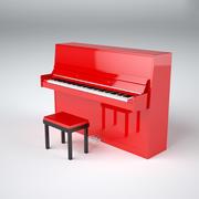 Röd upprätt piano 3d model