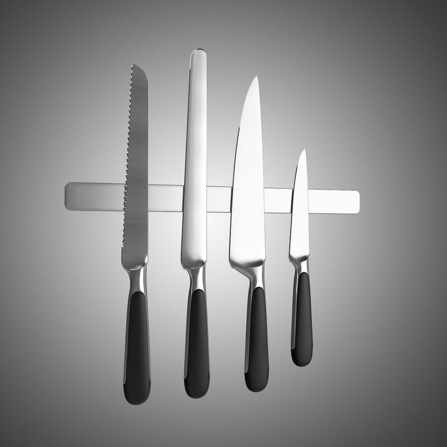Noże kuchenne royalty-free 3d model - Preview no. 2