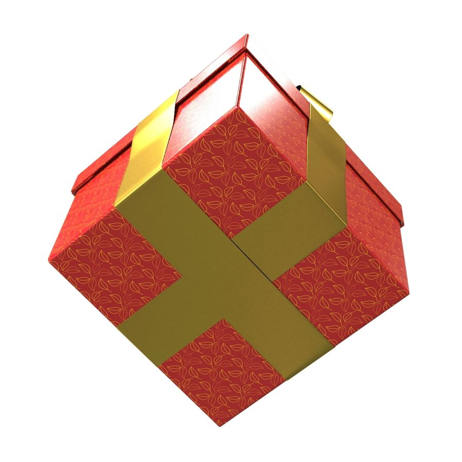 Geschenkbox Rot royalty-free 3d model - Preview no. 8