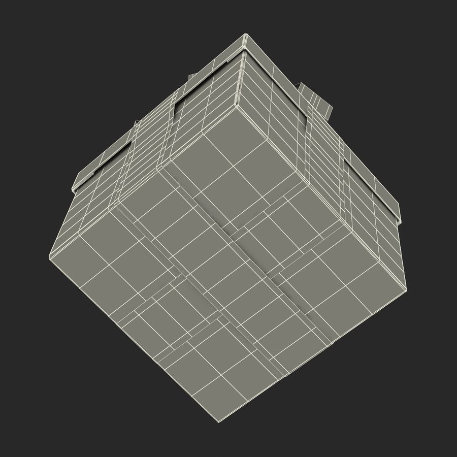 Geschenkbox Rot royalty-free 3d model - Preview no. 20