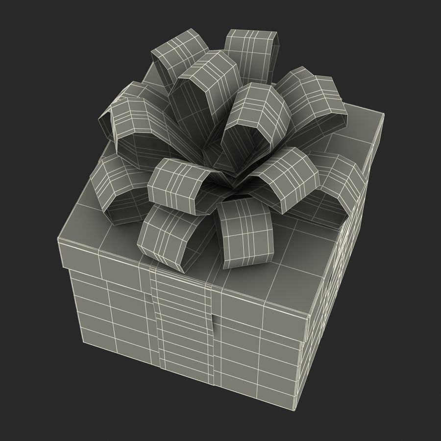 Geschenkbox Rot royalty-free 3d model - Preview no. 18