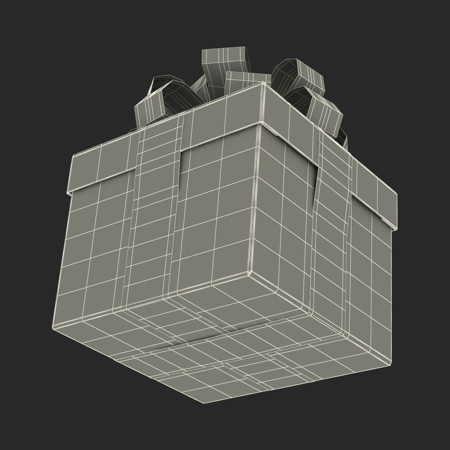 Geschenkbox Rot royalty-free 3d model - Preview no. 19