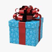 Giftbox Blue 3D Model 3d model