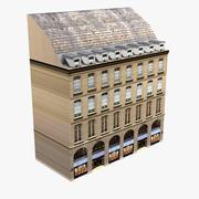 Edificio europeo Low Poly 3d model