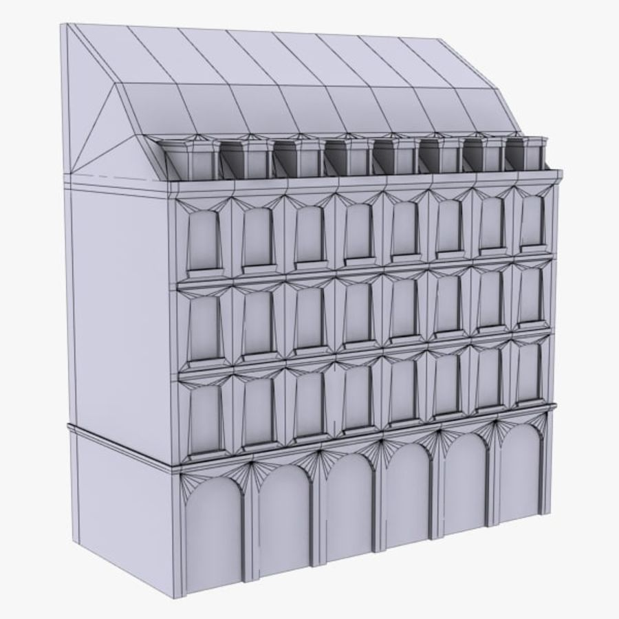 Europees gebouw laag poly royalty-free 3d model - Preview no. 9