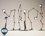 241 lampada industriale 3d model