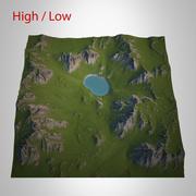 Berglandschaft 3d model