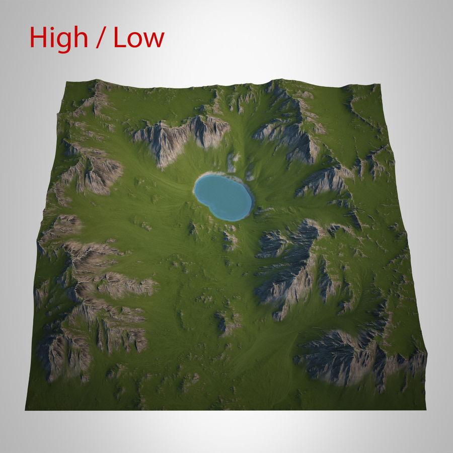 Berglandschaft royalty-free 3d model - Preview no. 1