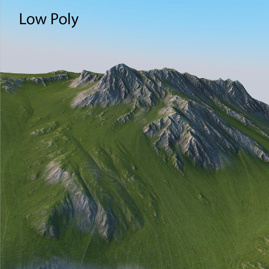 Berglandschaft royalty-free 3d model - Preview no. 23