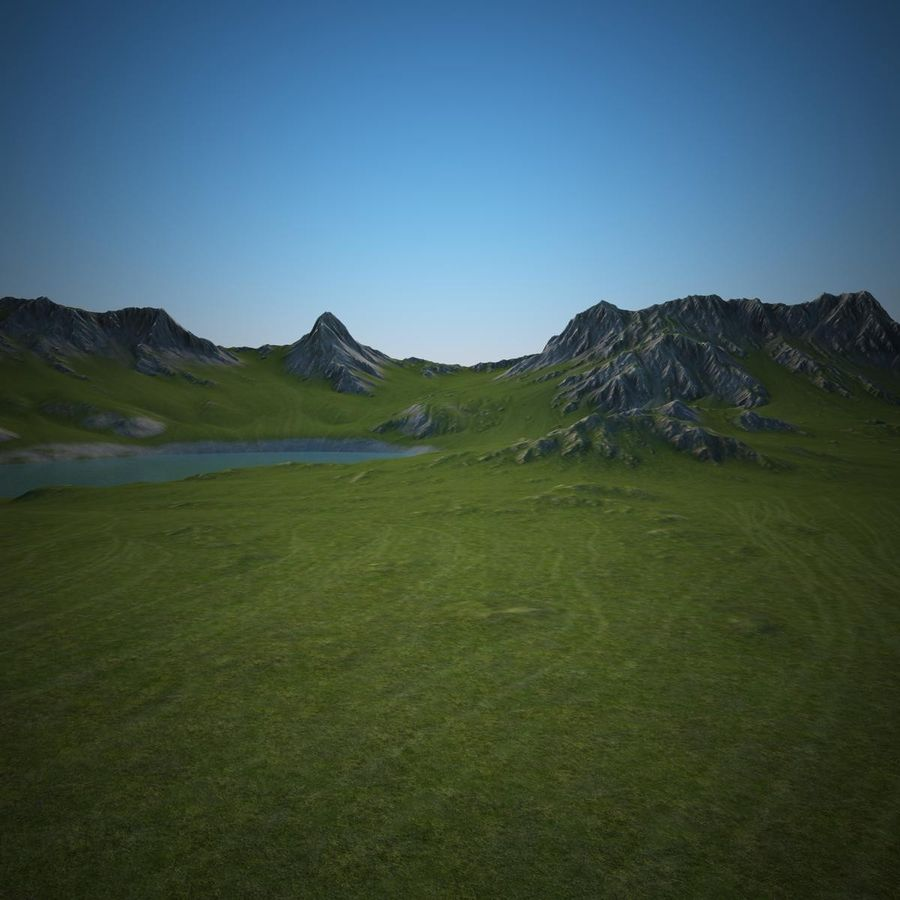 Berglandschaft royalty-free 3d model - Preview no. 13