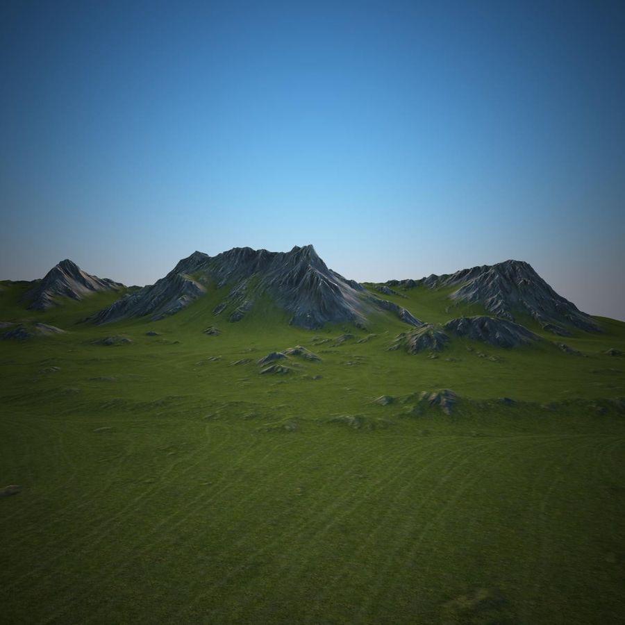 Mountain Landscape royalty-free 3d model - Preview no. 7
