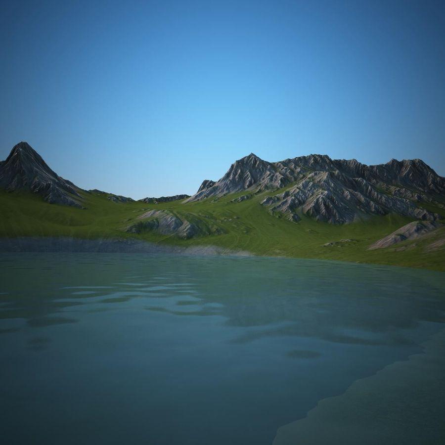 Mountain Landscape royalty-free 3d model - Preview no. 11