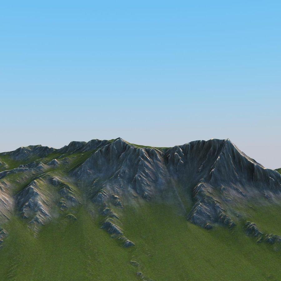 Berglandschaft royalty-free 3d model - Preview no. 8