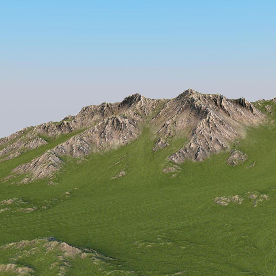 Berglandschaft royalty-free 3d model - Preview no. 16