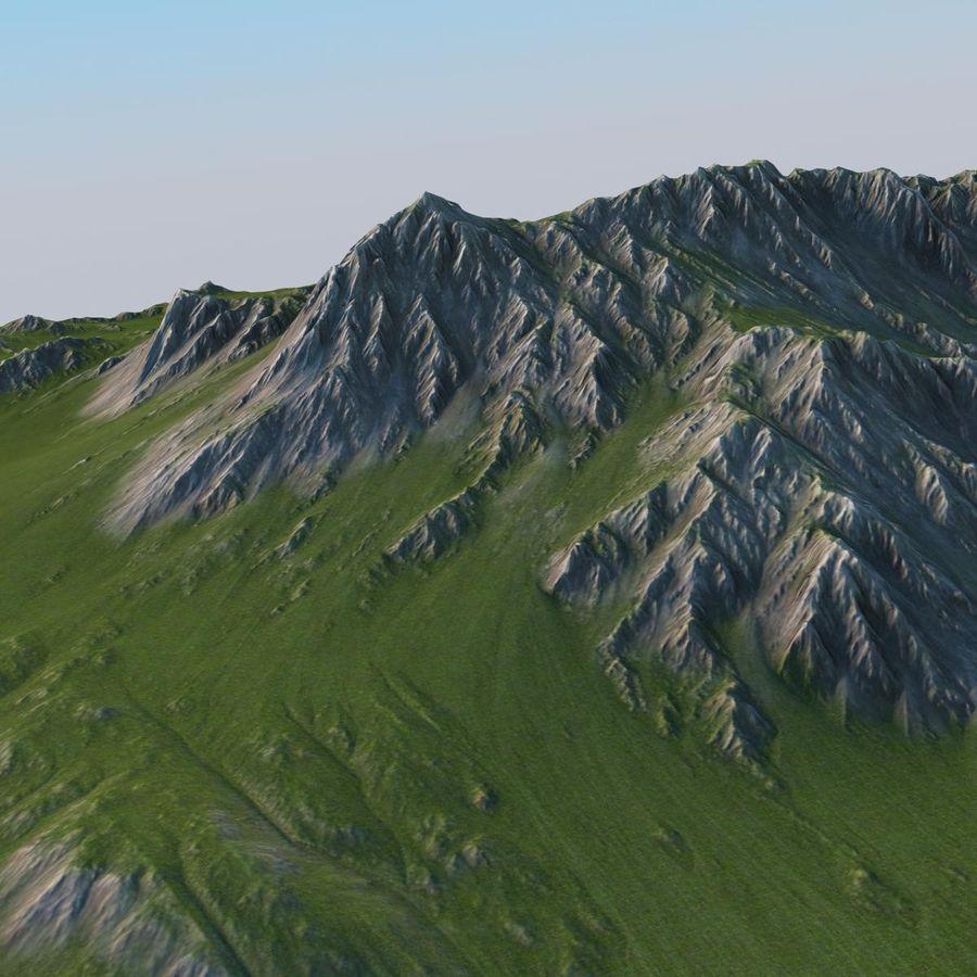 Berglandschaft royalty-free 3d model - Preview no. 21