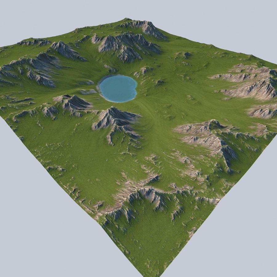 Berglandschaft royalty-free 3d model - Preview no. 2