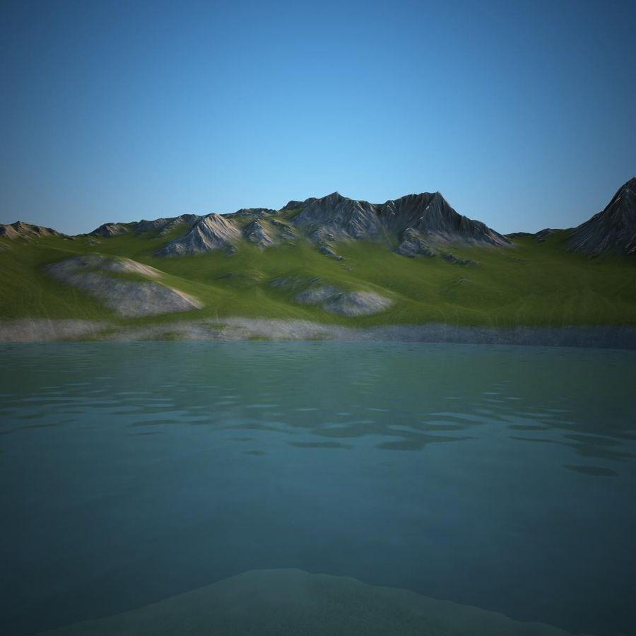 Berglandschaft royalty-free 3d model - Preview no. 9