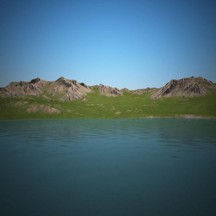 Mountain Landscape royalty-free 3d model - Preview no. 12