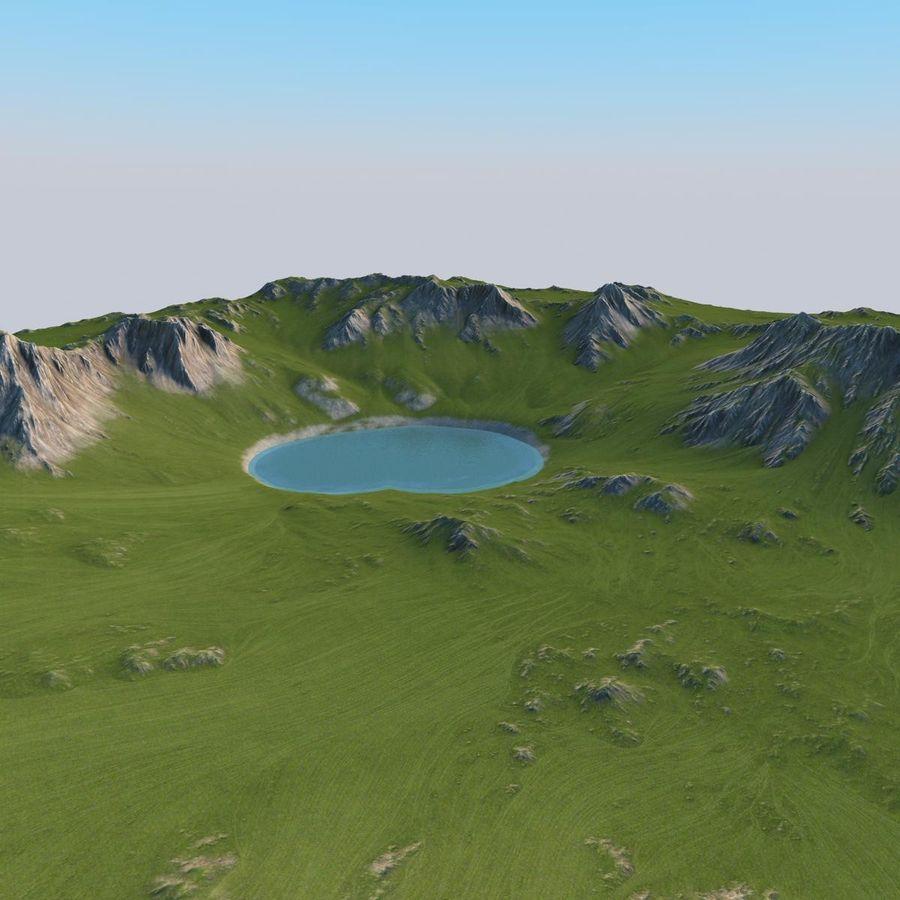Berglandschaft royalty-free 3d model - Preview no. 20
