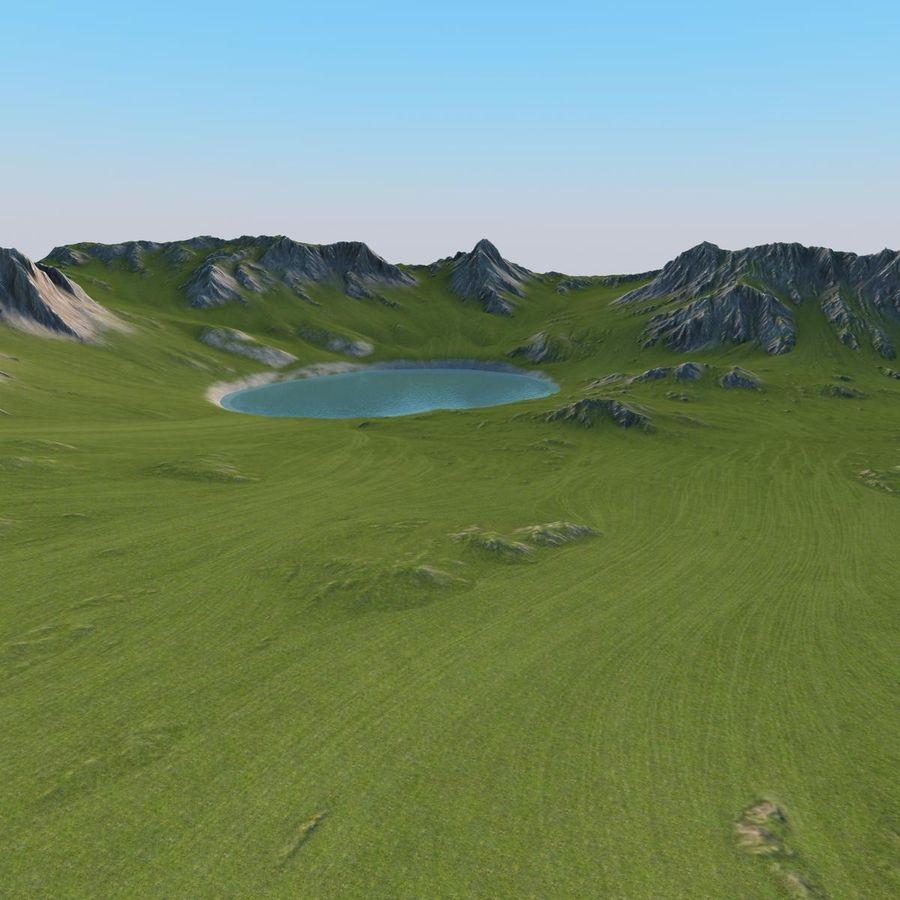 Berglandschaft royalty-free 3d model - Preview no. 19