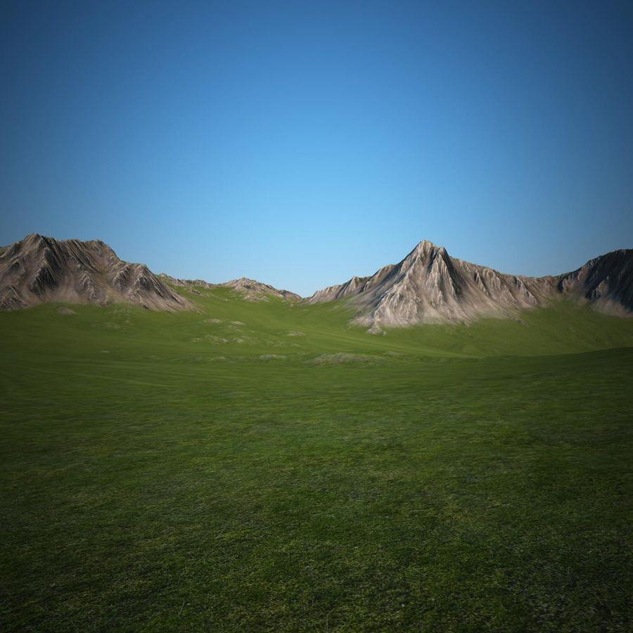 Berglandschaft royalty-free 3d model - Preview no. 15
