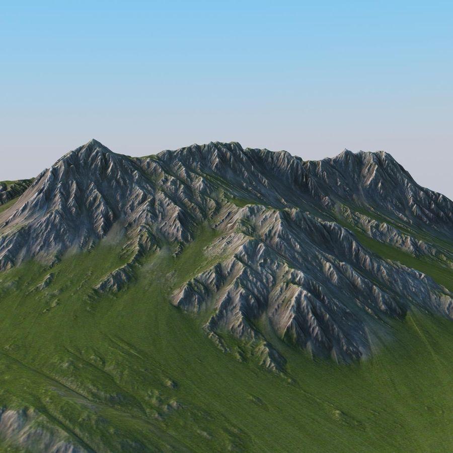 Berglandschaft royalty-free 3d model - Preview no. 5